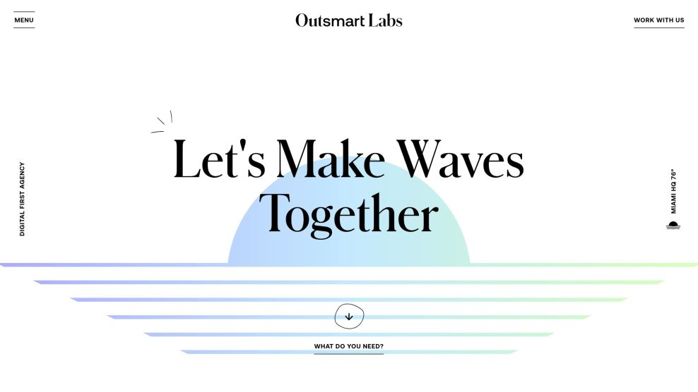 Outsmart Labs Website Design Miami sunset