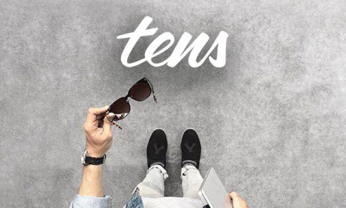 Tens Sunglasses Clean Website Design
