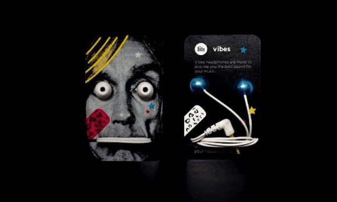 Vibes Earphones Concept Fun Package Design