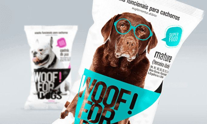 Woof For Dogs Fun Package Design