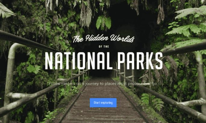 The Hidden Worlds Of The National Parks Site Is A Dazzling, Immersive Interface That Inspires & Informs Visitors
