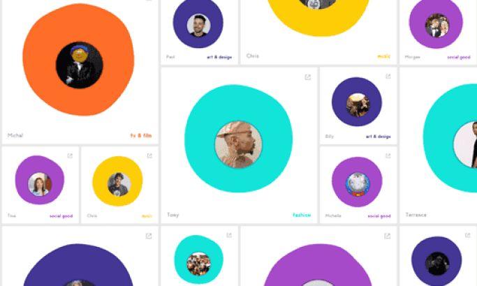 Pharrell Williams Colorful Website Design