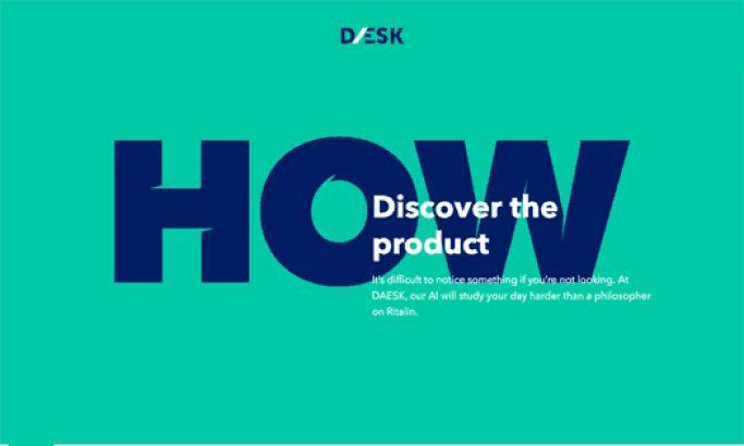Daesk Colorful Website Design
