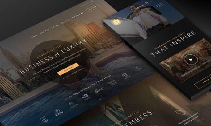 Luxury Marketing Council Elegant Website Design
