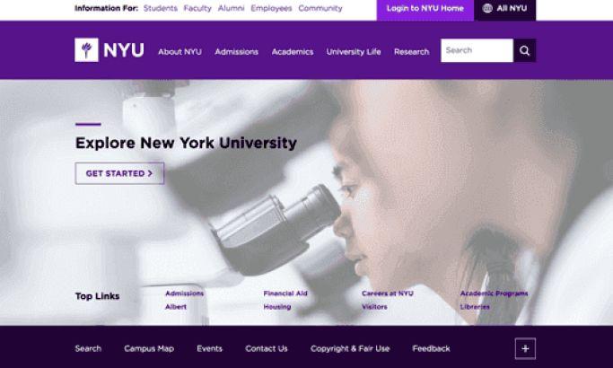 NYU Top Website Design
