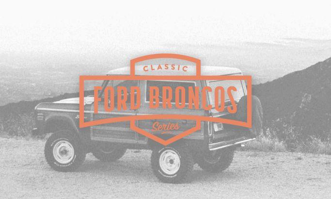 Classic Ford Broncos Clean Website Design