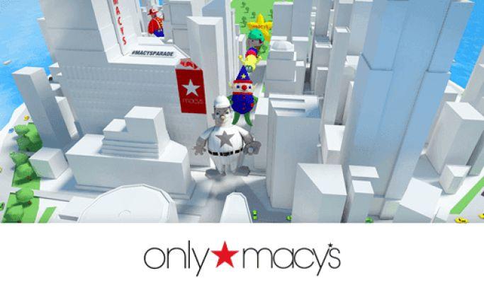 Macy's Social Parade Colorful Website Design