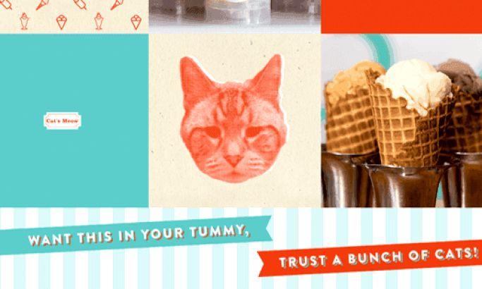 Fat Cat Creamery Retro Website Design