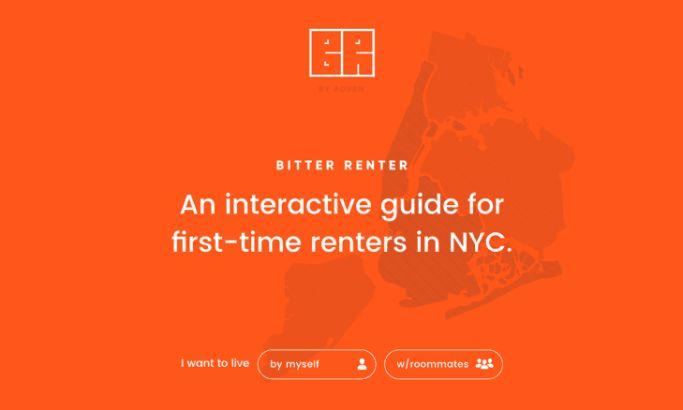Bitter Renter Great Website Design