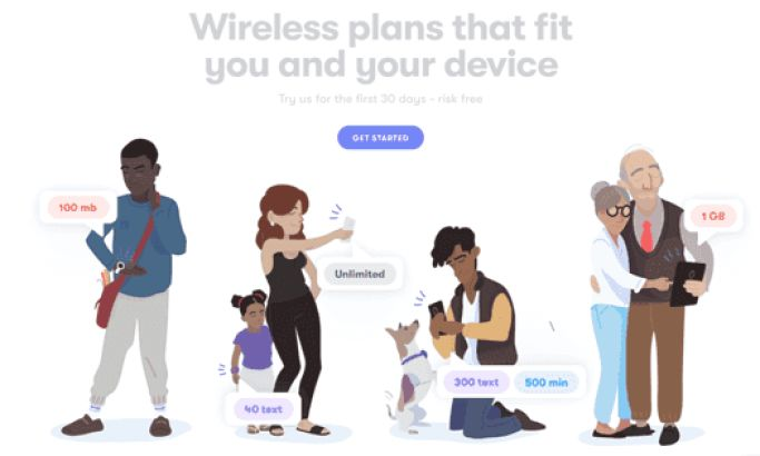 US Mobile Colorful Website Design