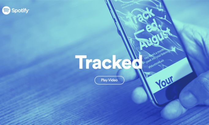 Spotify Tracked Colorful Website Design