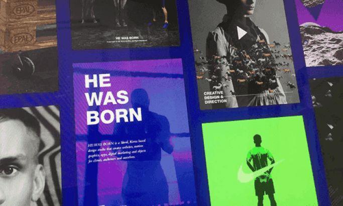 He Was Born Colorful Website Design