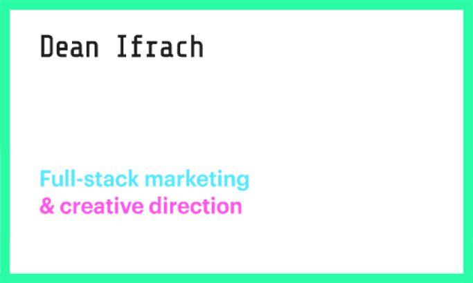 Dean Ifrach Clean Website Design