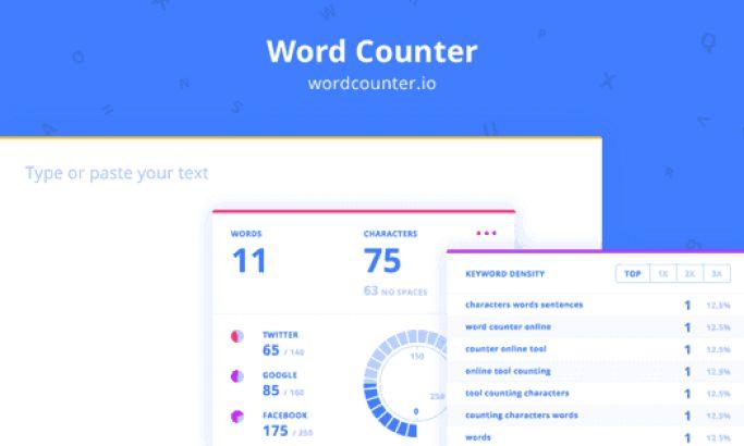 Wordcounter Minimal Website Design