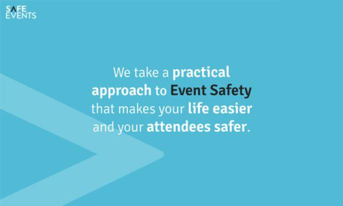 Safe Events Minimal Website Design