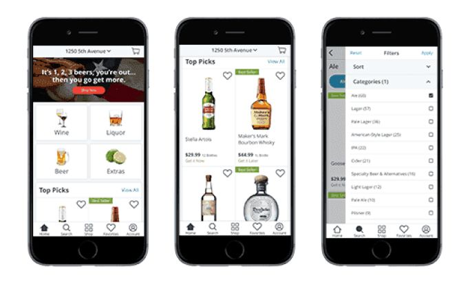 Drizly Alcohol Delivery App iPhone