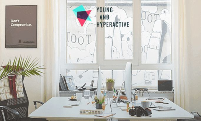 Young and Hyperactive Stunning Website Design