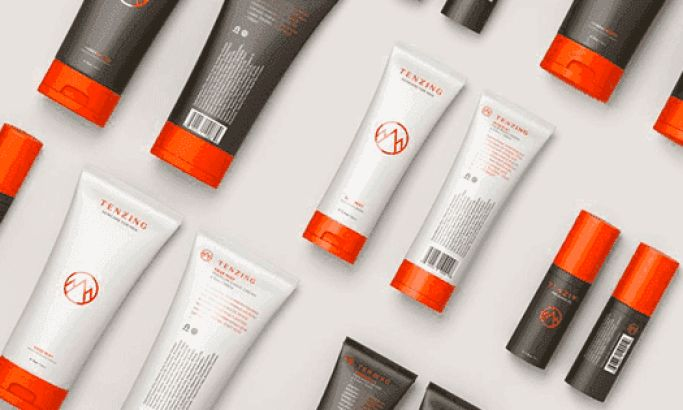 Tenzing Skincare Clean Package Design