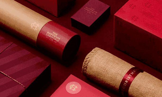 The Handmade Christmas Company Elegant Package Design
