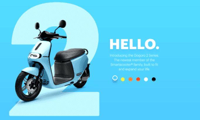 Gogoro Colorful Website Design