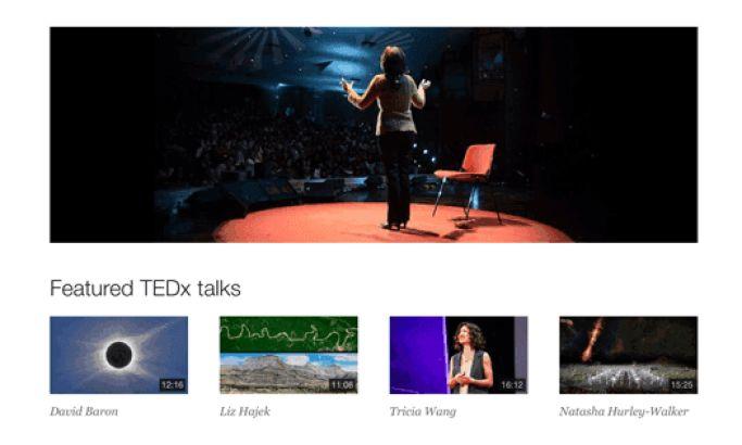 TED Talks Clean Website Design