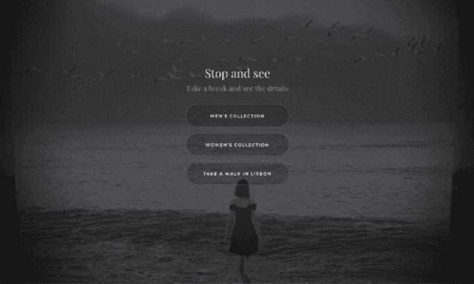 Giorgio Armani — Frames of Life Beautiful Website Design