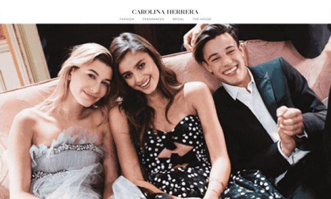 Carolina Herrera Elegant Website Design