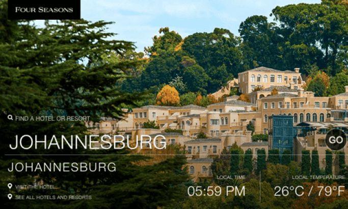 Four Seasons Hotels and Resorts Elegant Website Design