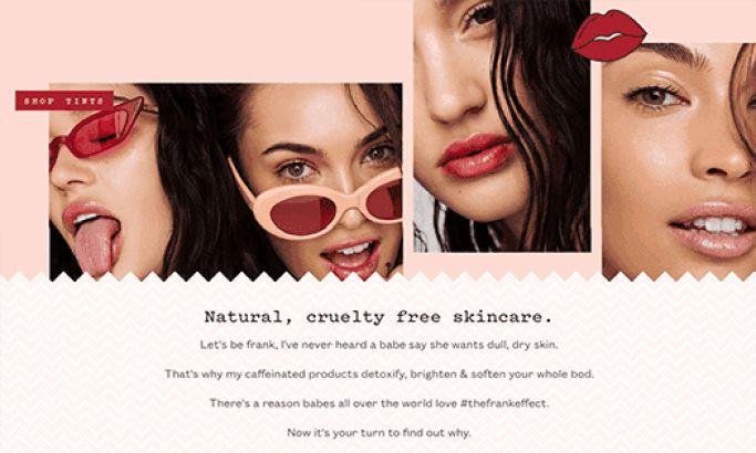 Frank Body Clean Website Design