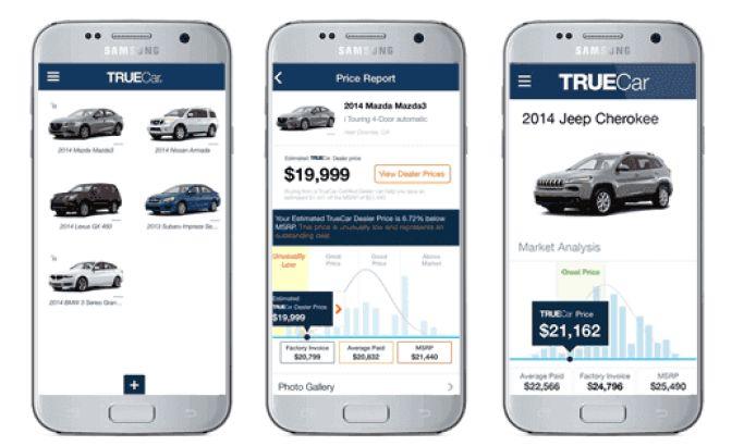 TrueCar Clean App Design