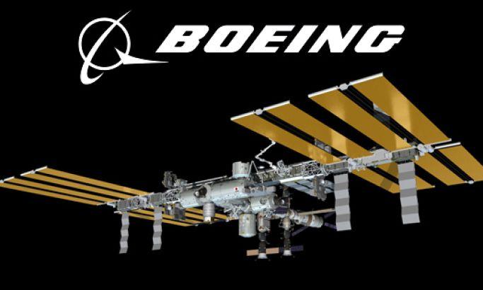 Boeing 3D International Space Station Top Web Design