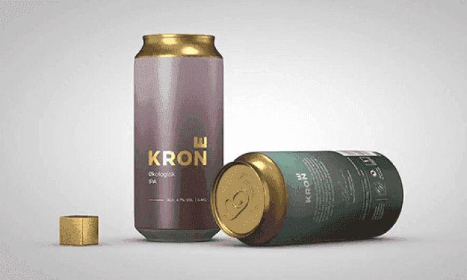 Krone Beer Minimal Package Design