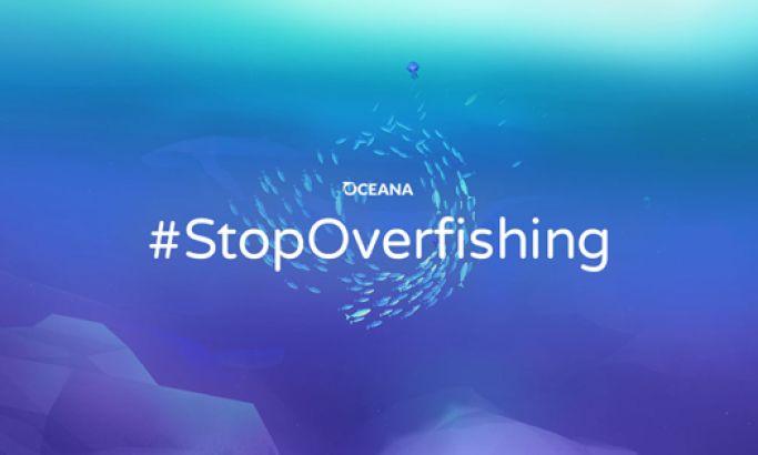 Oceana's Stop Overfishing Gradient Website Design