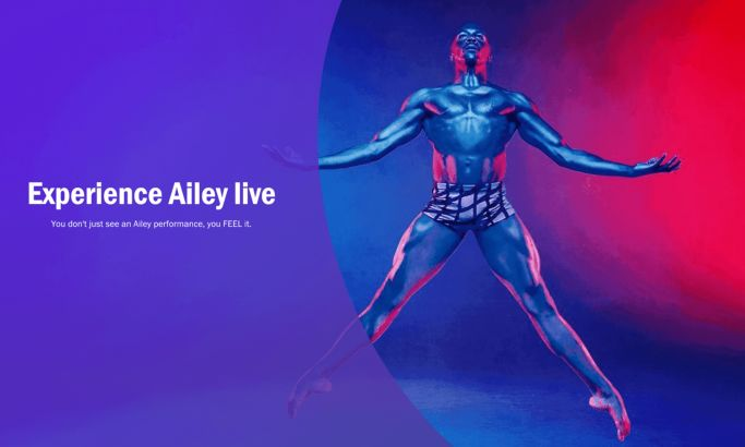 Alvin Ailey Great Website Design