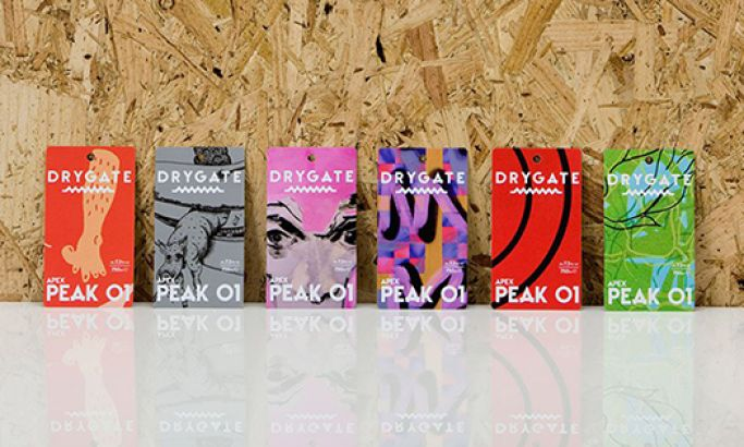 Drygate Beer Colorful Package Design