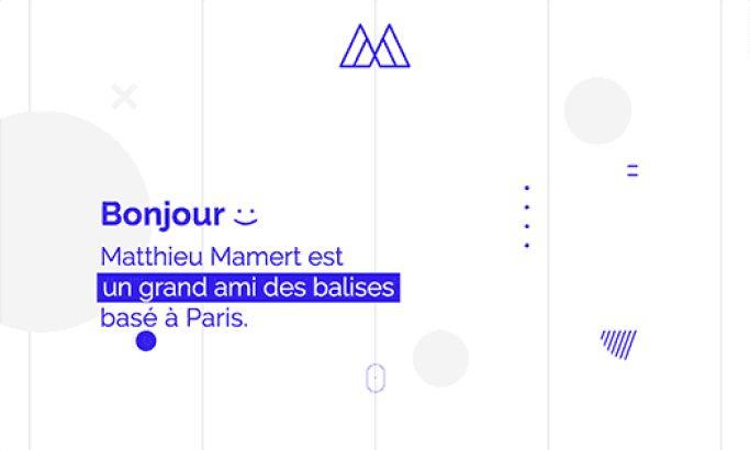 Matthieu Mamert Clean Web Design