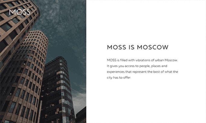 Moss Hotel Elegant Website Design