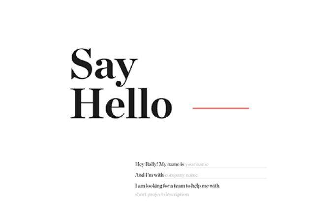 Rally Interactive Minimal Website Design