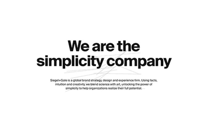 Siegel & Gale Top Website Design
