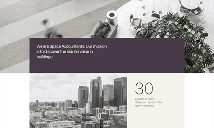 Stevenson Systems Elegant Website Design