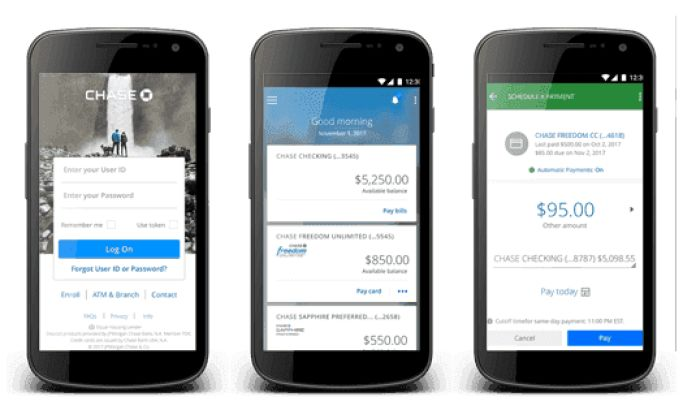 Chase Bank Mobile App