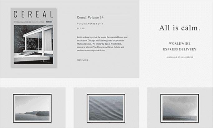 Cereal Elegant Website Design