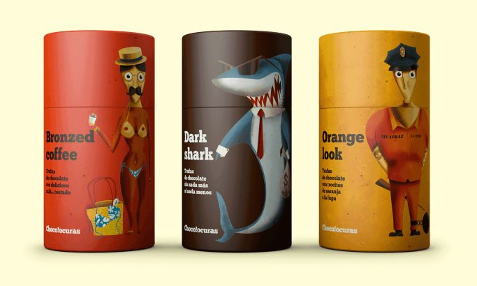 Bronzed Coffee by Chocolocuras Fun Package Design