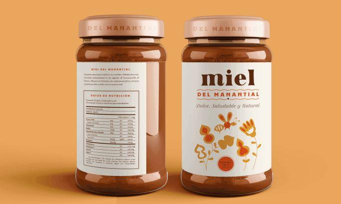 Miel del Manantial Pretty Package Design