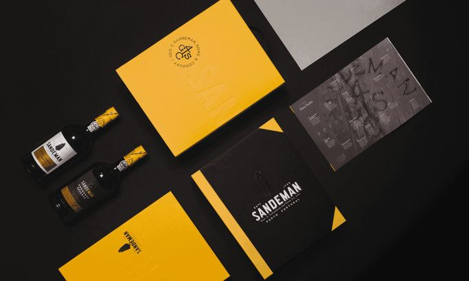 Sandeman Trade Presenter Bold Package Design