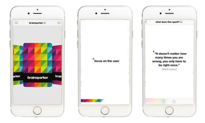 Brainsparker Inspirational App Design