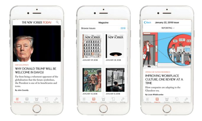 The New Yorker Today Intuitive App Design
