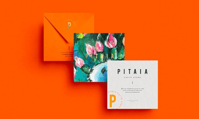 Pitaia's Simple Print Design Uses Colorful Imagery To Grab Attention