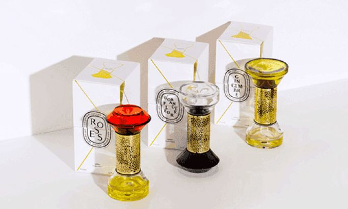 Diptyque's Luxurious Hourglass Packaging Brings Home Fragrance To Life