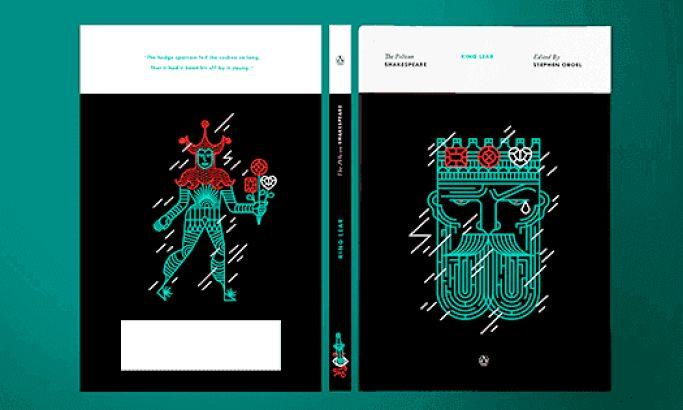 Pelican Shakespeare's Geometric Print Design Modernizes Classic Literature